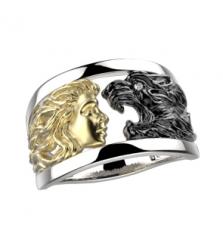 Кольцо «девушка с пантерой»