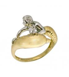 Кольцо «Девушка и дельфин»