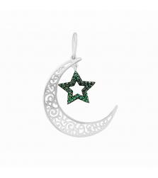 Подвеска «полумесяц со звездой»