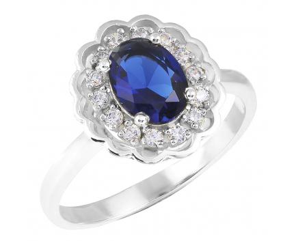 Кольцо  из серебра 925 пробы с сапфиром 23-5-SZ-R-821115