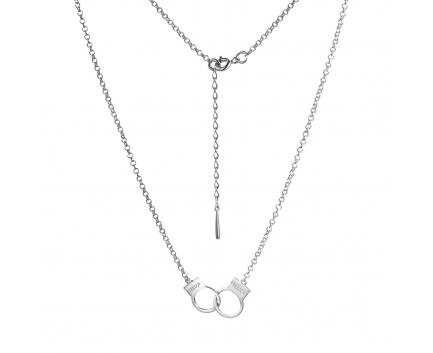 Колье «наручники - freedom» из серебра 925 пробы с  23-5-OO-N-871715
