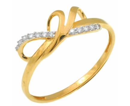 Кольцо  из серебра 925 пробы с фианитом 23-9-ZZ-R-082777