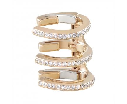 Серьги  из золота 585 пробы с бриллиантом 45-1-DD-E-01583A