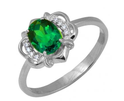 Кольцо  из серебра 925 пробы с  23-5-QZ-R-082679