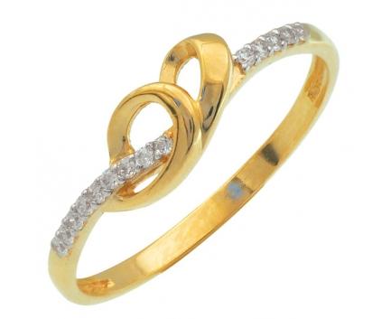 Кольцо  из серебра 925 пробы с фианитом 23-9-ZZ-R-082720