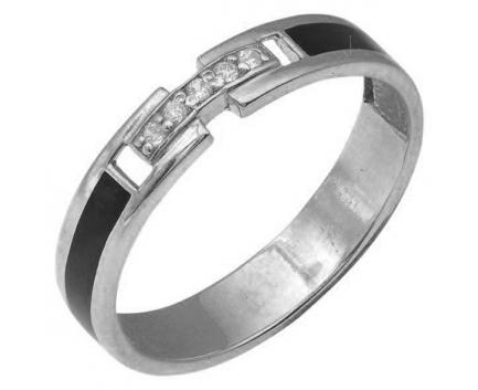 Кольцо  из серебра 925 пробы с фианитом 23-5-ЭZ-R-082809