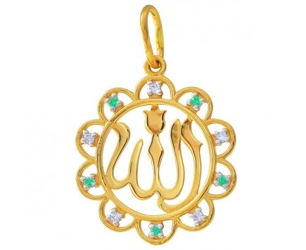 Мусульманский кулон Аллах из золота 23-3-ZP-P-085958 MrDiamond