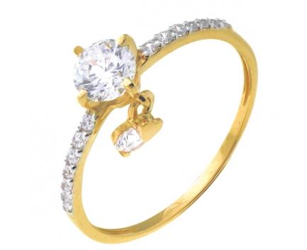 Кольцо  из серебра 925 пробы с фианитом 23-9-ZZ-R-082938