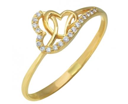 Детское кольцо сердечко