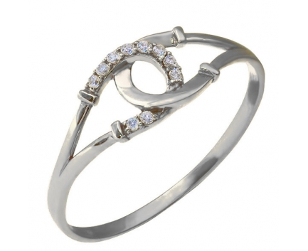 Кольцо  из серебра 925 пробы с фианитом 23-5-ZZ-R-821005