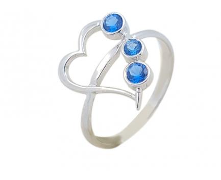 Кольцо  из серебра 925 пробы с топазом 25-5-CB-R-001109