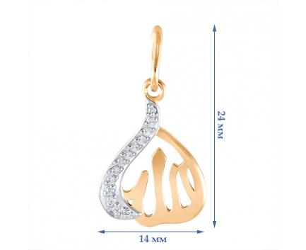 Подвеска  из золота 585 пробы с бриллиантом 23-1-DD-P-085840