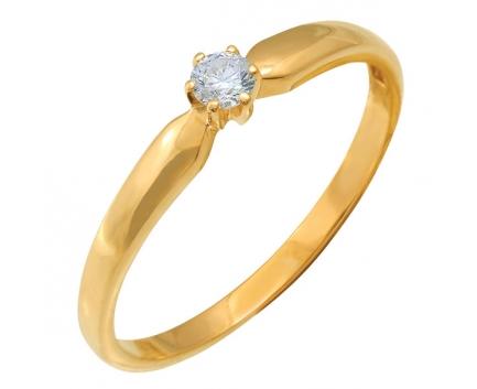 Кольцо  из серебра 925 пробы с фианитом 23-9-ZZ-R-082993