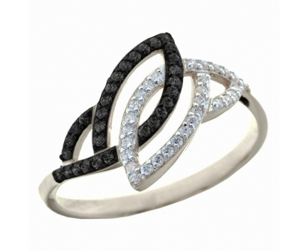 Кольцо  из серебра 925 пробы с фианитом 23-5-ZZ-R-082343b