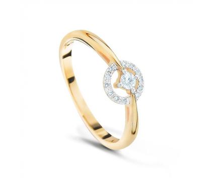 Кольцо  из золота 585 пробы с бриллиантом 99-1-DD-R-000527