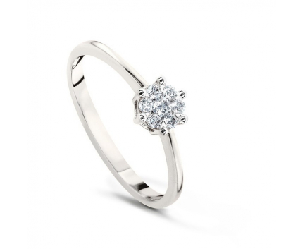 Кольцо  из золота 585 пробы с бриллиантом 99-2-DD-R-000625