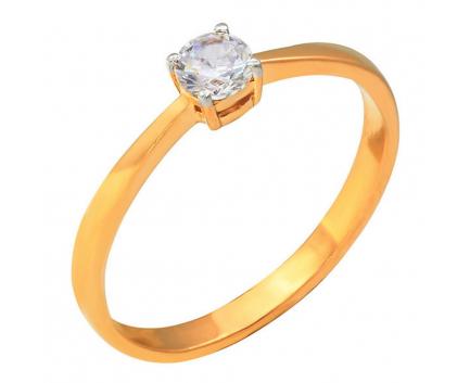 Кольцо  из золота 585 пробы с фианитом 23-1-ZZ-R-821318