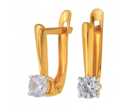 Серьги  из золота 585 пробы с фианитом 23-1-ZZ-E-831318
