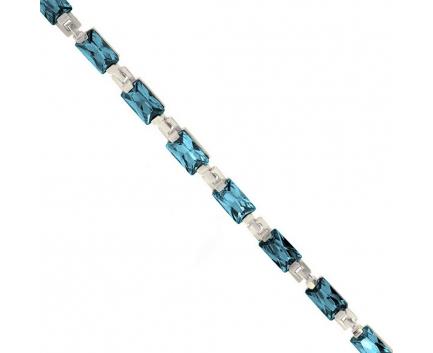 Браслет  из серебра 925 пробы с топаз лондоном 23-5-LB-B-008861