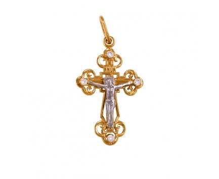 Подвеска православный крестик из золота с бриллиантами 20-4-dd-p-000101 Mister Diamond