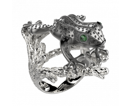 Кольцо  из серебра 925 пробы с фианитом 29-5-ZZ-R-001875