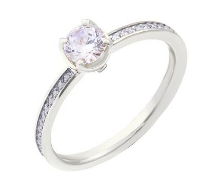 Кольцо  из серебра 925 пробы с фианитом 23-5-ZZ-R-821388