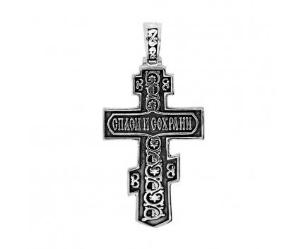 Подвеска «православный крест» из серебра 925 пробы с  24-5-OO-P-061331