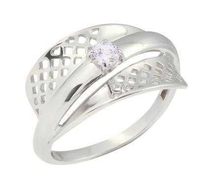Кольцо  из серебра 925 пробы с фианитом 23-5-ZZ-R-821443