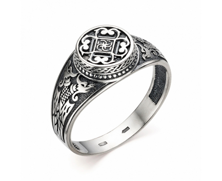 Печатка «дракон / свадебник» из серебра 925 пробы с  30-5-OO-R-962006