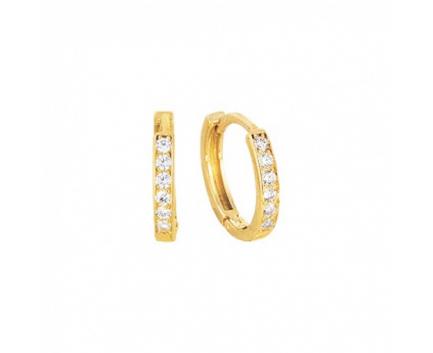 Серьги  из золота 585 пробы с фианитом 13-1-ZZ-E-0SL024