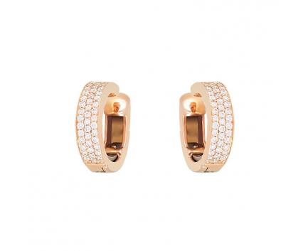 Серьги  из золота 750 пробы с бриллиантом 45-1-DB-E-01589-1
