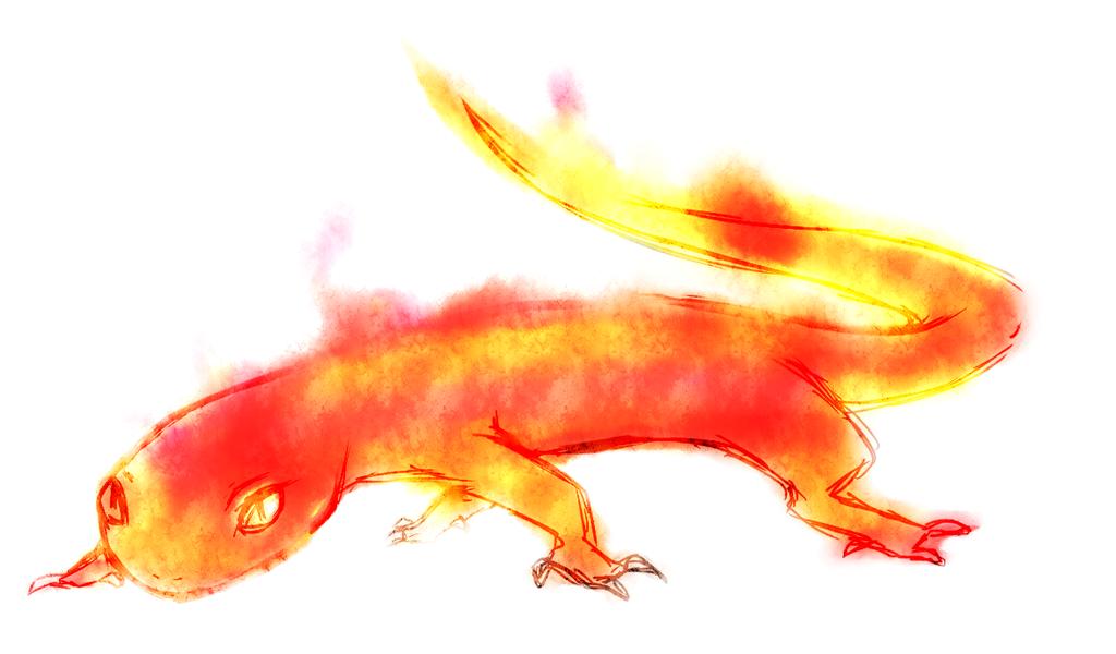 украшения огненная саламандра